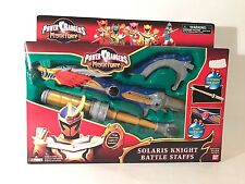 Power Rangers Mystic Force Solaris Knight Battle Staff Bandai Mega Lights 2006