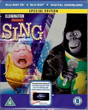 Sing (2016) 2-Disc Limited Special Edition 3D SteelBook (Region Free UK Import)
