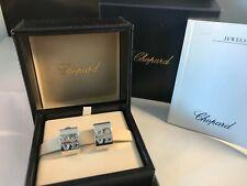 Chopard 18k White Gold HAPPY DIAMONDS Love Earrings RRP $9620
