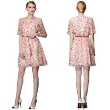 Plus Size Chiffon Floral Short/Mini Dresses for Women