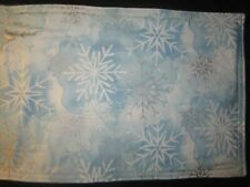 CHRISTMAS HOLIDAY SNOWFLAKE WINTER HANDMADE FABRIC PLACEMATS SET OF 4