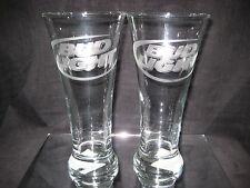 BUD LIGHT BEER 20 oz ETCHED LOGO PILSNER GLASSES 2 NEW