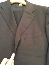 MEN'S Custom $4495 Borrelli all season Navy Suit 56-58/46-48 R