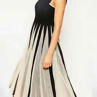 Women Chiffon Sleeveless Formal Party Cocktail Evening Midi Dress Casual Summer