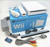 **CUSTOM** Nintendo Wii WHITE Video Game Console System Bundle 1TB GameCube