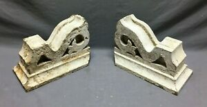 Antique Pair Corbels Wood Small Victorian Architectural Shabby VTG Chic 760-21B