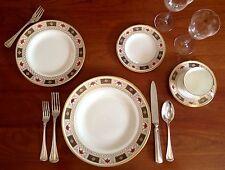 ROYAL CROWN DERBY bone china porcelain DERBY BORDER 5-piece setting - GORGEOUS