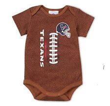 Gerber Baby Boy NFL Houston Texans Football Pigskin Onesie Size 3-6M