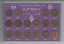 More details for 1937-1952 king george vi farthings farthing coin collector collecting gift set