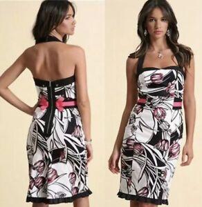 Karen Millen DG099 UK 12 Tulip Print Halter Neck Wiggle Dress NWT RRP £140