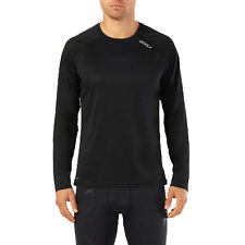 2XU X-Vent Mens XXL Long Sleeve Top Mens Black Running Exercise Race Layering