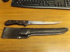 Vintage King Fisher Fillet Knife with Maxam Leather Sheath