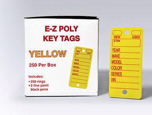 Automotive Poly Key Tags | polyethylene, heavy duty | EZ426 dealership tags