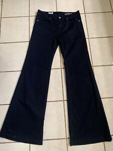 GAP1969 NEW! Women's Dark Wash HIGH RISE TROUSER Wide Leg Pants/Jeans 28/6 Reg