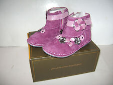 NIB STRIDE RITE MEDALLION MILANIA GIRLS SHOE BOOTS size 7.5 W PINK LEATHER SUEDE