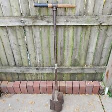 Vintage Iwan Bros. Antique Post Hole Digger, South Bend In 48 inch