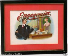 Antique Original Cigar Box Label In Frame Tobacco Smoking Smoker Great Gift Idea