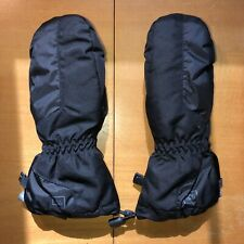 Rei Childrens Ski Snow Mittens Gloves Black Kids Size Medium (10-12) Winter