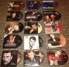 JOHNNY HALLYDAY RARE LOT DE 15 CD SINGLE PREMIERE EDITION ORIGINALE DONT RARETES