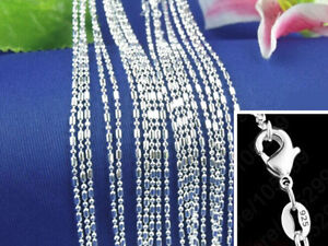 1PCS 925 Silver Ball Chain Making Pendant Necklace Accessories Jewelry Necklace