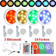 Neu 4x RGB LED Unterbauleuchte Küche Vitrinenbeleuchtung LED Schrankleuchten DE