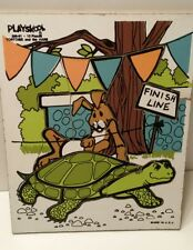 Tortoise And The Hare Playskool Puzzle wooden Complete Pre School Home School :)