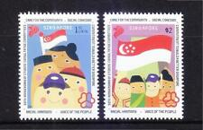 SINGAPORE 2015 50TH ANNIV. OF CITIZEN'S CONSULTATIVE COMMITTEES SET 2 STAMPS MNH