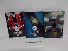 3X STEELBOOK CASE ONLY - FIFA 13 - MILAN INTER MESSI - NO GAME - BRAND NEW