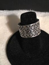 Estate.925 Sterling Silver Wide Band, Celtic Design Ring. Heavy!!