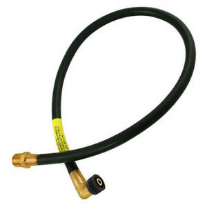 "Plug-In Micropoint Bayonet Gas Cooker Hose 3ft 6"" Natural Gas THN163 Kite Marked"