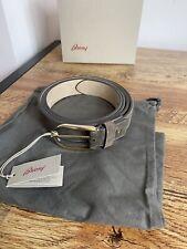 Brioni Belt Brown & Gold Buckle 35mm Adjustable RRP £420