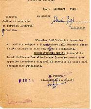 RSI REVERE MANTOVA REPUBBLICA SOCIALE ORDINE DI SERVIZIO DICEMBRE 1944 doc3