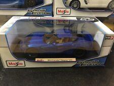 1:18 Maisto Corvette Sting Ray Z51 American Muscle Auto Sportive SUPER (Blu)