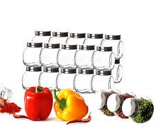 24er Set Gewürzgläser 200ml mit Schraubdeckel Vorratsgläser Behälter Glas Dosen
