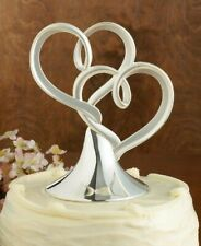 Lenox Silver Forevermore Double Heart Wedding Anniversary Cake Topper NIB
