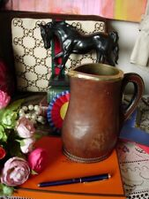 Ultra Rare Vintage Gucci Leather Decanter Carafe Pitcher Wine Beverage Barware