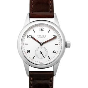 NOMOS GLASHUETTE  Club  701 White Silver-plated Dial Men's Watch Genuine