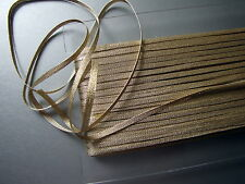 GALON PASSEMENTERIE LACET Fil OR Antique, AU METRE, larg 4 mm Louis Mathieu, LO4