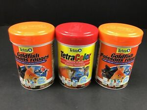 2 Tetra Goldfish Flakes & 1 Tropical 28g Fish Food Clean Clear Water Formula New