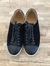 Sezane Jack Tennis Shoes Black Leather 7.5 US / 38 EU