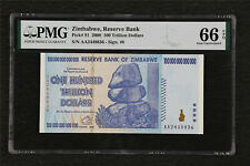 2008 Zimbabwe Reserve Bank 100 Trillion Dollars Pick#91 PMG 66 EPQ Gem UNC