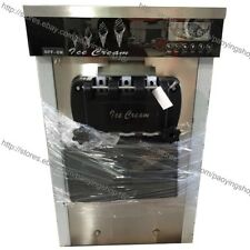 22L/H Stainless Steel 3 Flavor Table Top Soft Ice Cream Machine Maker