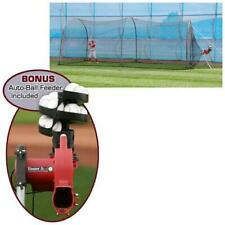 New listing Trend Sports Heater Complete Home Batting Cage with Heater Jr. Pitching Machine