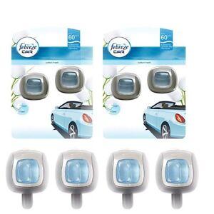 2 x Twin Pack Febreze Cotton Fresh Air Freshener Clip On Car Van Vehicle scent