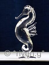 SEAHORSE@Figurine@CRYSTAL Glass HIPPOCAMPUS@Collectable Gift@MARINE@UNIQUE FISH