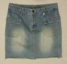 NII JEANS DISTRESSED FADED DENIM SKIRT size 8