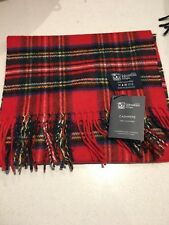 Johnstons of Elgin Check royal stewart cashmere scarf new with tags