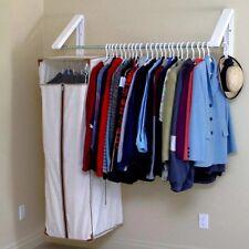 Hanger Wall Mount Rack Storage Drying Laundry Closet Organizer Folding Clothes