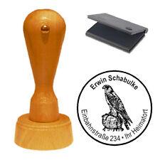 Stempel « Falke » Adressenstempel Motivstempel Holzstempel