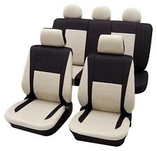 Black & Beige Elegant Car Seat Cover set - For Mitsubishi Outlander 2007 Onwards